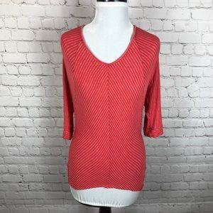 Anthropologie Bordeaux Dolman Shirt 3/4 Length S